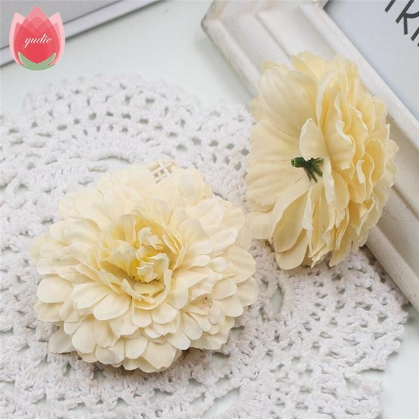 Düğün Ev Dekorasyon Mariage Aynısafa Simülasyon Çiçek Sahte Tesisi için 50 adet İpek 6cm Marigold Yapay Çiçek