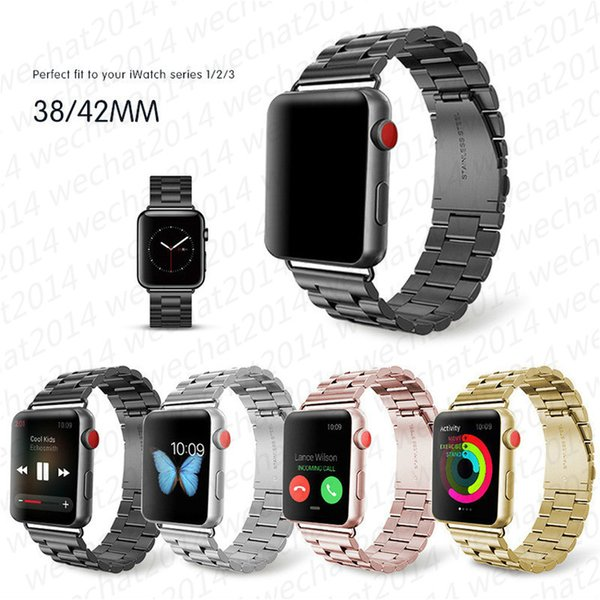 30pc tainle teel metal band trap for apple watch 3 2 1 42 38 mm link bracelet wri t belt watchband for iwatch acce orie