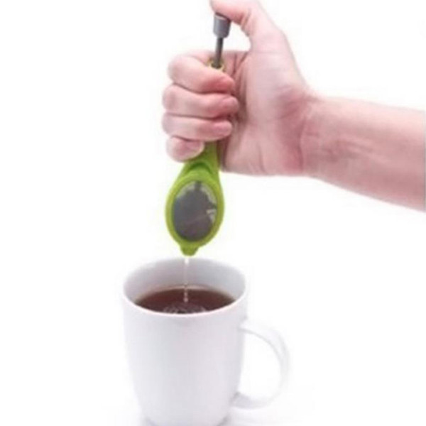 top popular Total Tea Infuser Food Grade PP Infuser Make Tea Infuser filer Creative Stainless Steel Tea Strainers Free Shipping DH0331 2019