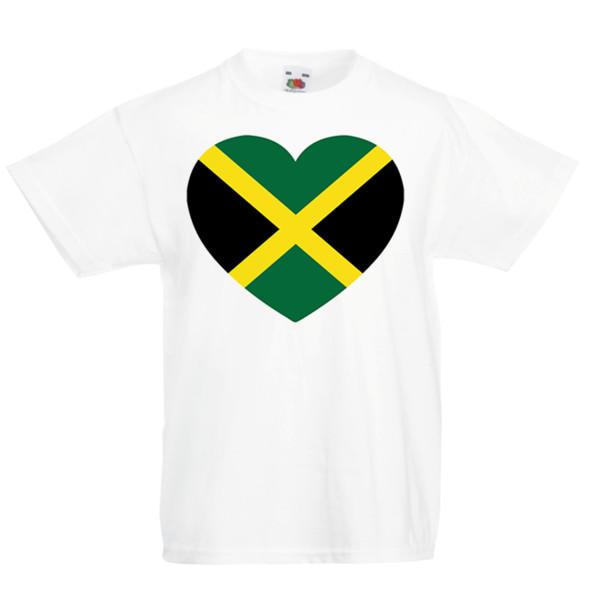 I love Jamaica Kid's T-Shirt Country Flag Map Top Children Boys Girls Unisex Brand shirts jeans Print Classic Quality High t-shirt