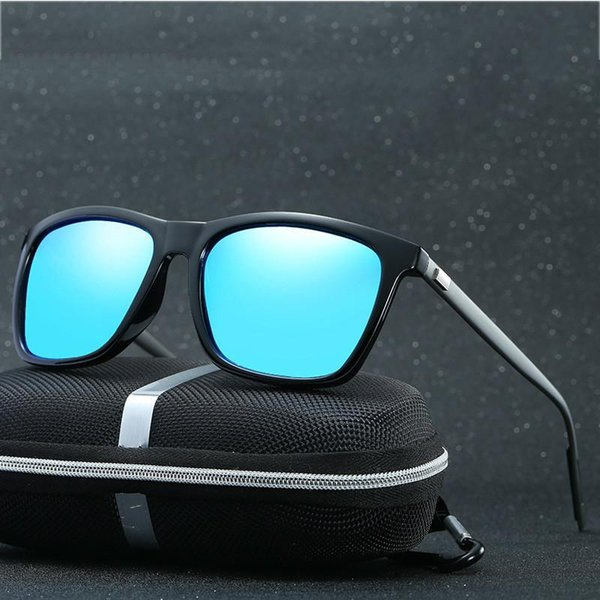 New high-quality men's and women's polarized glamour fashion UV400 sunglasses Al-Mg frame + packaging kit
