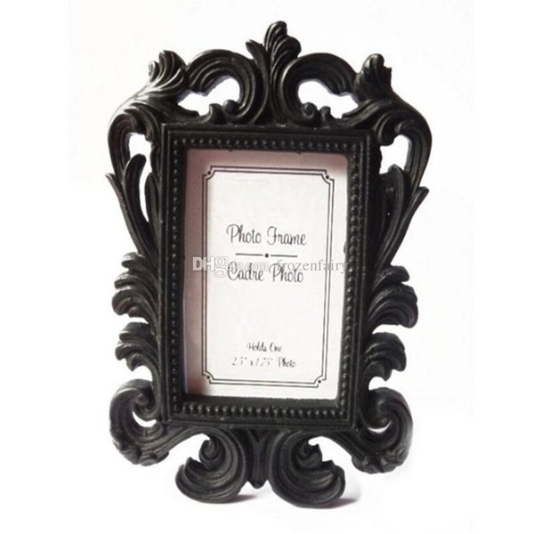 Victorian Style Resin White&Black Baroque Picture/Photo Frame Place Card Holder Bridal Wedding Shower Favors Gift cc328-333 2018072902