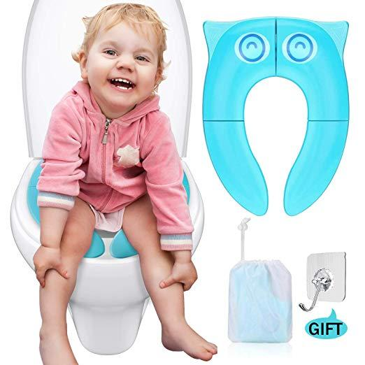 Super 2019 Portable Travel Potty Seat Upgrade Folding Large Non Slip Silicone Pads Travel Reusable Toilet Potty Training Seat Covers Liners For Babies From Dailytribune Chair Design For Home Dailytribuneorg