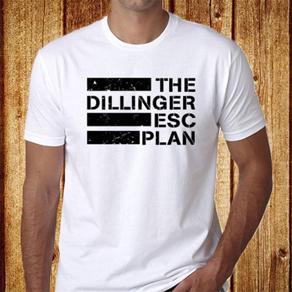 Cool Shirts Crew Neck Short-Sleeve Printed The Dillinger Escape Plan Tee For Men