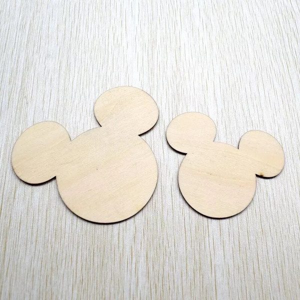 20pcs DIY Wooden mickey Pattern Scrapbooking Art Collection Craft For Handmade Accessory Sewing Home free shipping