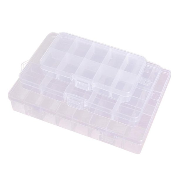 Plastic Jewlery Storage Box New Empty Storage Container Box Case for Nail Art Tips Rhinestone Gems 10/15/24