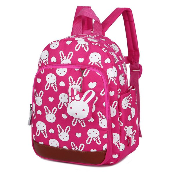 Factory Anti-lost Kids School Backpack Cute Cartoon Rabbit Bears Printing Children School Bag For Girls Kindergaden Backpack Bag