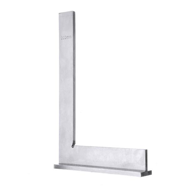 200x130mm Maschinist Square 90º rechtwinkliges Ingenieur-Set mit gehärtetem Winkelmesser für den Präzisionsstahl
