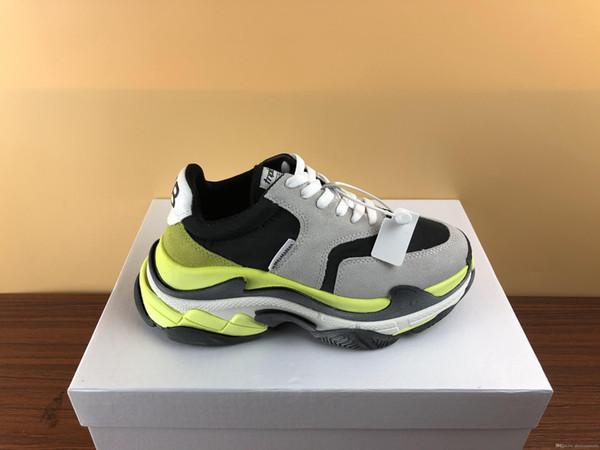 Горячий продавать Тройной дизайнер обуви человек натуральная кожа все черный Меа высшего качества Проблемные дизайнер кроссовок верхней одежды женщины в продаже большого размера