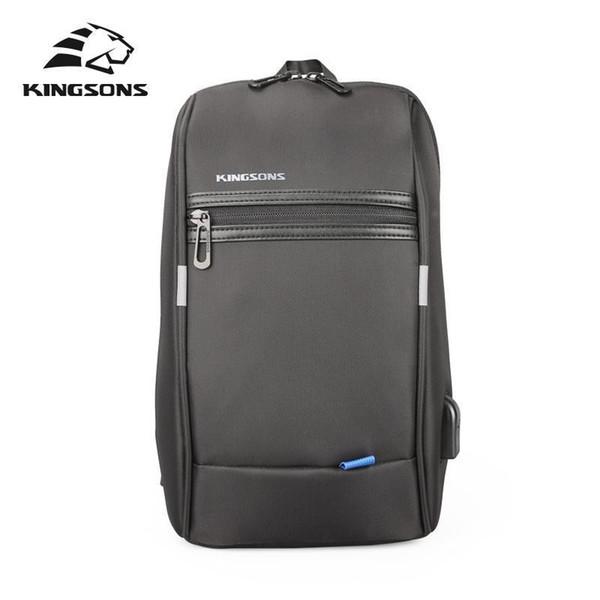 Kingsons KS2175w 10.1 Inch Chest Backpack For Men Women Casual Crossbody Bag Leisure Travel Single Shoulder Backpack