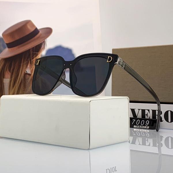 Moda D Mektupları Erkek Kadın Güneş Plajı Güneş Adumbral Gözlüğü Gözlük UV400 Kutusu ile 7009 yüksek kalite
