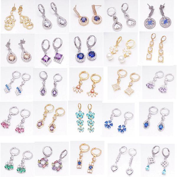 Schmuckzubehör Yunkingdom 30 Arten Mode Cubic Zirkonia Geometrische Ohrringe für Frauen und Mädchen Schmuck Ohrring Geschenk