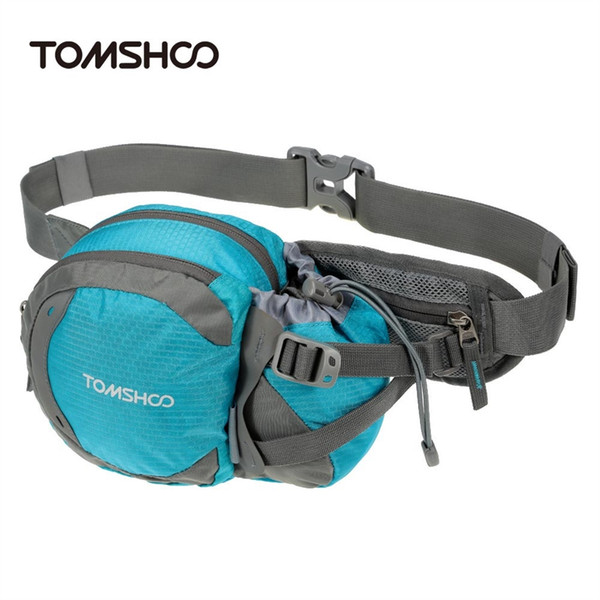 TOMSHOO Water-resistant Outdoor Waist Bag Sports Waist Pack for Hiking Running Cycling Camping Climbing Travel #48457