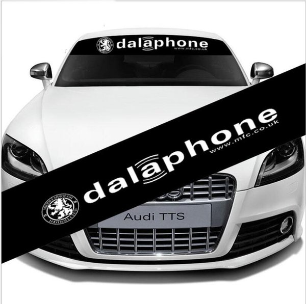 Reflective Car Front Windshield Banner Decal for dalaphone Auto Exterio Sticker