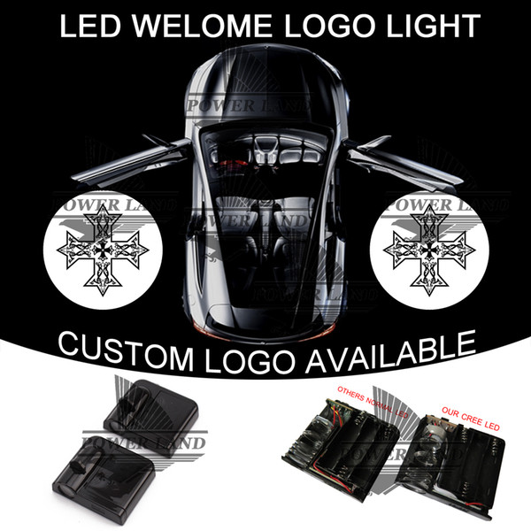 Car Door Step Courtesy Welcome Light Projector Laser Cross GOBO Logo Light Ghost Shadow Puddle Emblem Spotlight Drop Shipping