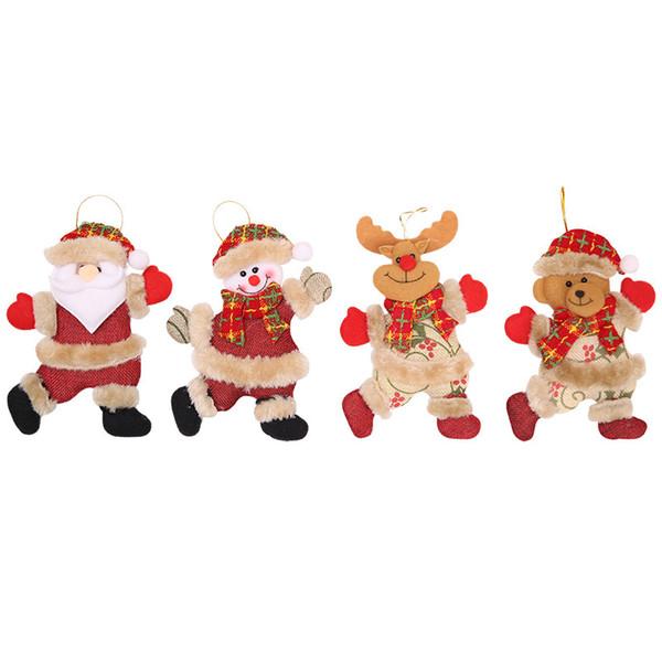 Enfeites de natal presentes santa boneco de neve boneca enfeites para casa decorações de natal