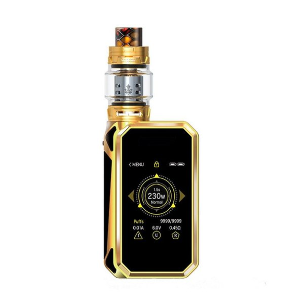 SMOKing G-Priv 2 Kit 4ml TFV8 X-BABY Tank 230W G-PRIV 2 Touch Screen Box Mod Smaller Size and Lighter Weight DHL free shipping