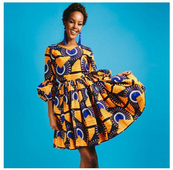 Fashion Designer Gonne per le donne Abiti estivi Puff manica Flora Flora abiti stampati Ball Gown Empire Lady Mini gonne M-3XL
