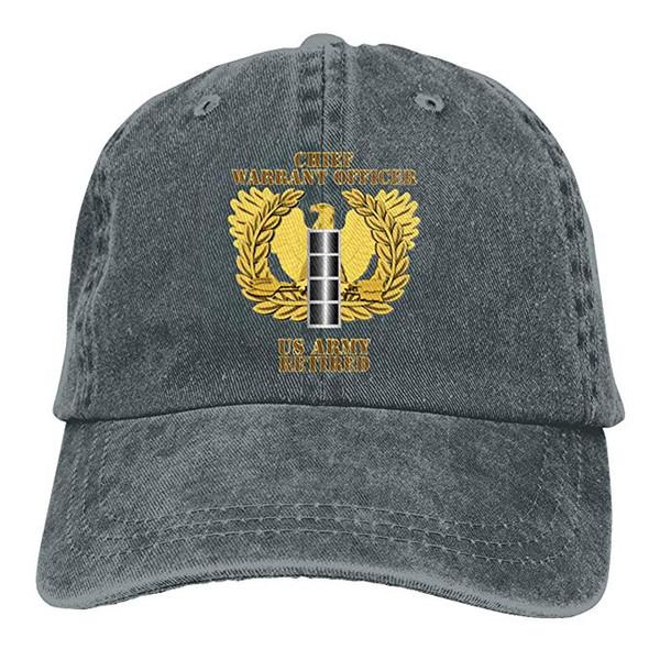 2019 Nouveau Designer Casquettes de baseball US Army Retraité Adjudant-Chef Emblème CW4 Hommes Coton Réglable Lavé Twill Casquette De Baseball Chapeau