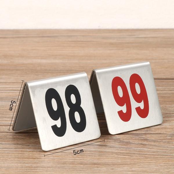 Paslanmaz Çelik Masa Numarası Plaka Kırmızı Numaraları Masa Kartları Restoran Üçgen Masaüstü Tablolar Burcu Kart Yeni Varış 2 2jd L1
