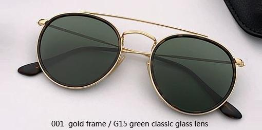 001 gold- G15 glass lens