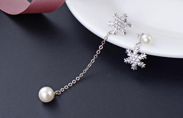 S925 стерлингового серебра жемчужное ухо шпилька женская мода алмаз набор циркон длинные серьги подвеска головной убор украшения