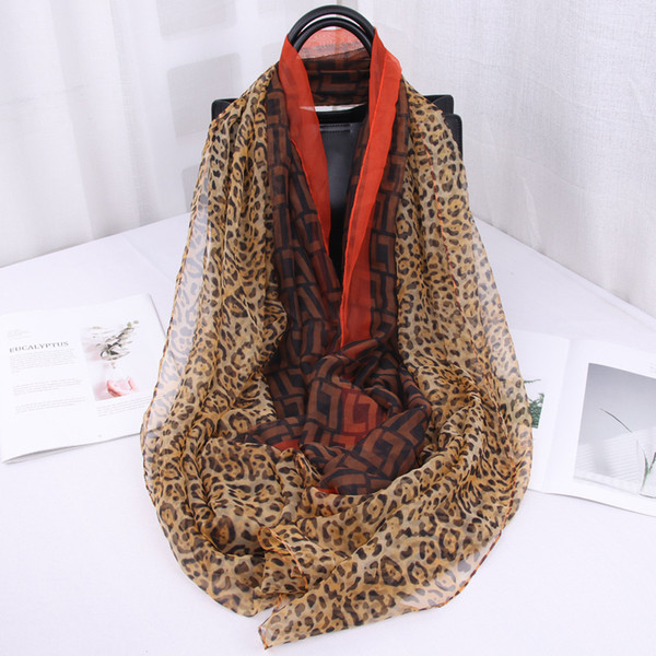 Spring and Summer Fashion Hundred Thin Beach Scarf, Long Shawl , Leopard Square Scarf scarves