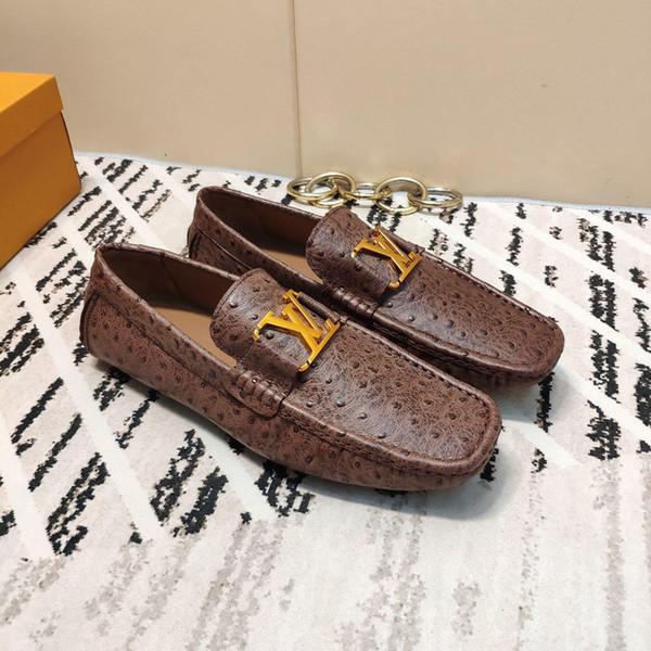 2019 Sommermarke High-End-Herrenmode Casual Erbsenschuhe, vielseitige bequeme Sport-Lazy-Schuhe, ein voller Satz von Original-Schuhkarton 38-45