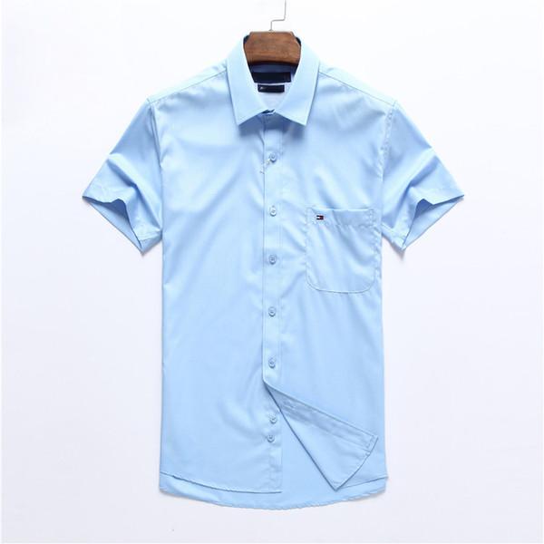 cc2da096e2 2019 Marca de los hombres de negocios camisa informal de manga larga a rayas  slim fit