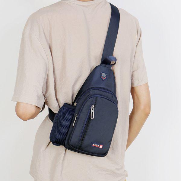 Men Chest Bag Oxford Outdoor Shoulder Messenger Crossbody Travel Satchel Sport