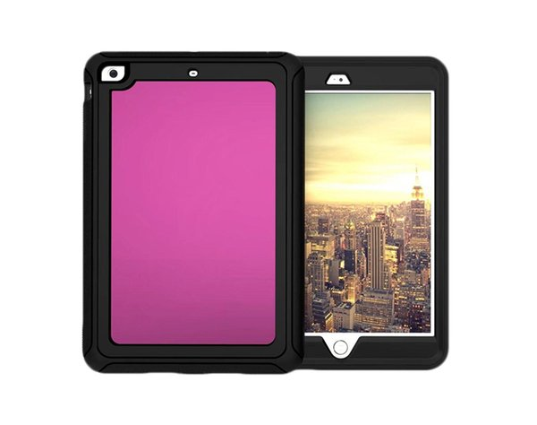 Tranparent Case Colorful Edge 3 In 1 Hybrid PC TPU Shockproof Cover For ipad mini 1 2 3 ipad 2 3 4 Air 2 pro 9.7 New ipad 2017 Opp Bag 25