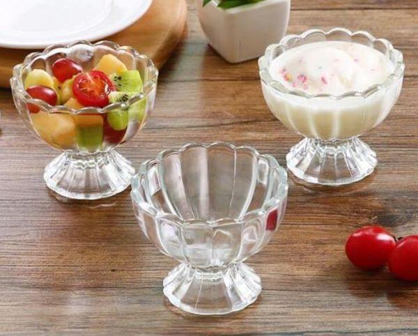 Nueva fiesta de la barra Bebida Bandeja de hielo Cubito de hielo Molde de congelación Molde del fabricante de hielo Taza de cristal transparente sin plomo para jugo Ensalada de postre
