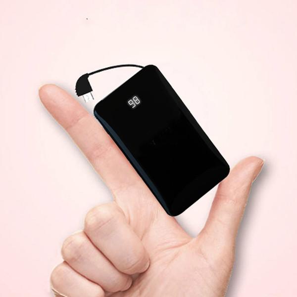 Sıcak satmak Mini Ultra-ince Ayna Güç Bankası 8000 mAh Taşınabilir 5 V / 2.1A Alaşım Powerbank Pil Hızlı Hızlı Şarj Için Cep Telefonu Mini Cep
