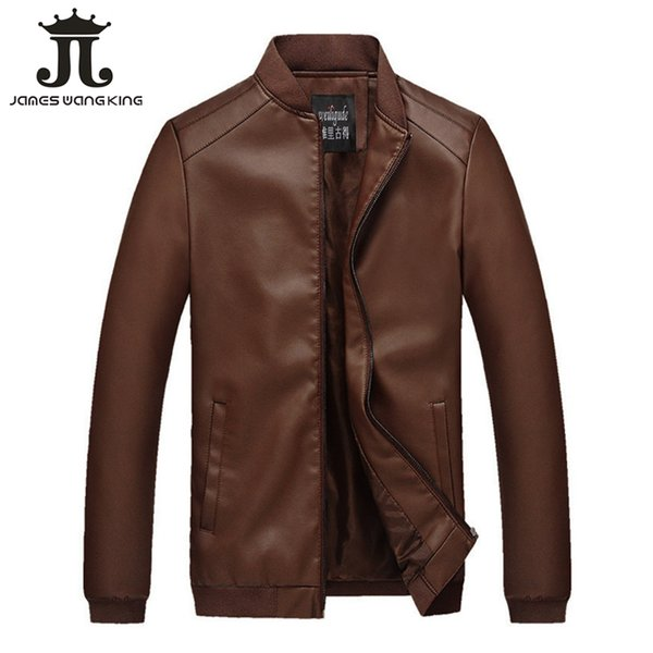 2019 New Mens Leather Jacket Classic PU Faux Thin Coats Motorcycle Biker Jackets and coats for man Spring Brand Clothing DT100