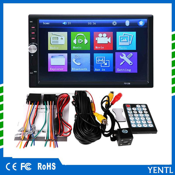 Free shipping yentl 2 Din Car DVD 7 inch HD In Dash Touch Screen BluetoothCar Radio Player Stereo USB Touch Screen 2 DIN Car MP5 MP3