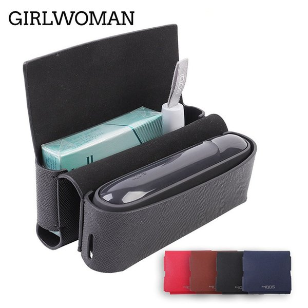 Girlwoman New 9 Colors Flip Leather Case For Iqos 3.0 Wallet Pouch Bag Holder Box Case Electronic Cigarette Iqos 3 Holder Case J190629