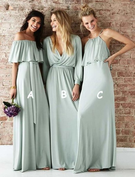 Chic Grey Custom Made Bridesmaids Dress Plus Size 2019 Pleats Backless Maid Of Honor Gowns Long Ruched Beach Wedding Party Guest Wear