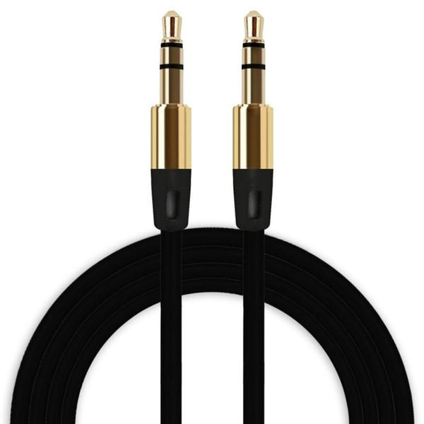Malloom 2017 Universal 3.5mm Cable Auxiliar Cable de Audio Macho a Macho Auxiliar Plano para teléfono móvil Reproductor de MP3 de Alta calidad