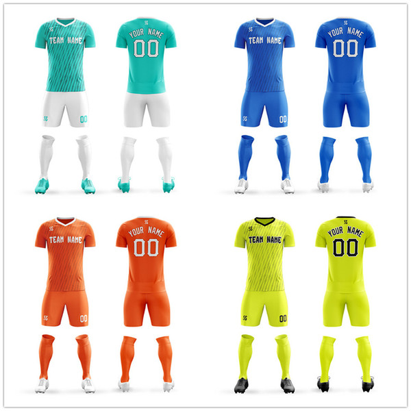 Mens Youth Soccer Jerseys erstellen Team Uniformen Fußballtraining Sets United Blank Design anpassen DIY
