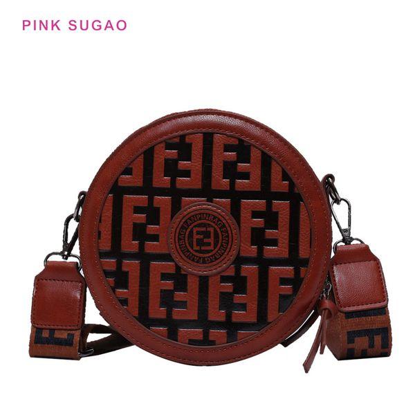 Pink Sugao crossbody bags for women luxury handbags women bags designer 2019 fashion shoulder bag ladies handbag round shape new