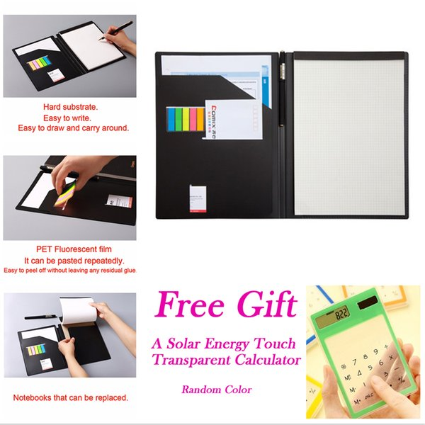 Multi function management book plan Notepad agenda business meeting notebook planner Gel Pen memo pad B5 office supplies