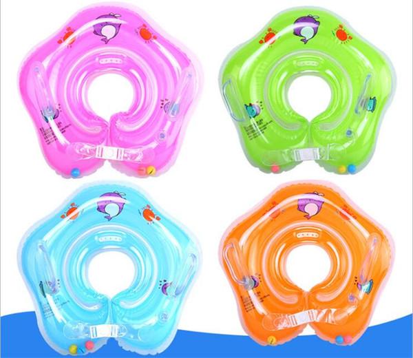 Nouvelle natation bébé accessoires nager anneau de bébé bébé tube anneau sécurité infantile cou cercle cercle pour se baigner Gonflable Date Drop DHL FJ271
