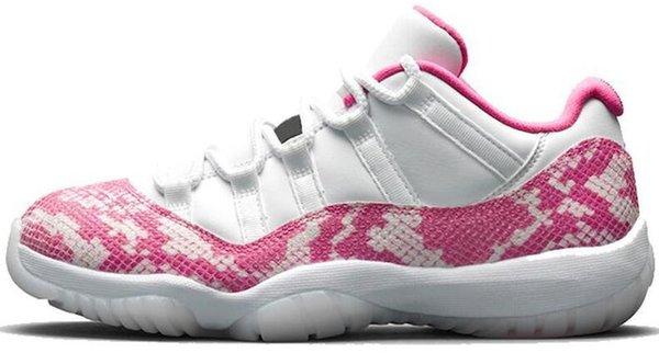Pink Snakeskin low