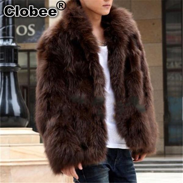 C 2019 Inverno 2019 Mens Faux Fur Coat caldo spessore Giacche Full-length Parka Fox Fur Coat Plus Size 3XL Uomo Soprabito