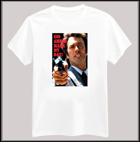 Kirli Harry T-Shirt Clint Eastwood eski film grafik tee small- XL.new Tees Özel Jersey tişörtlü hoodie hip hop t-shirt