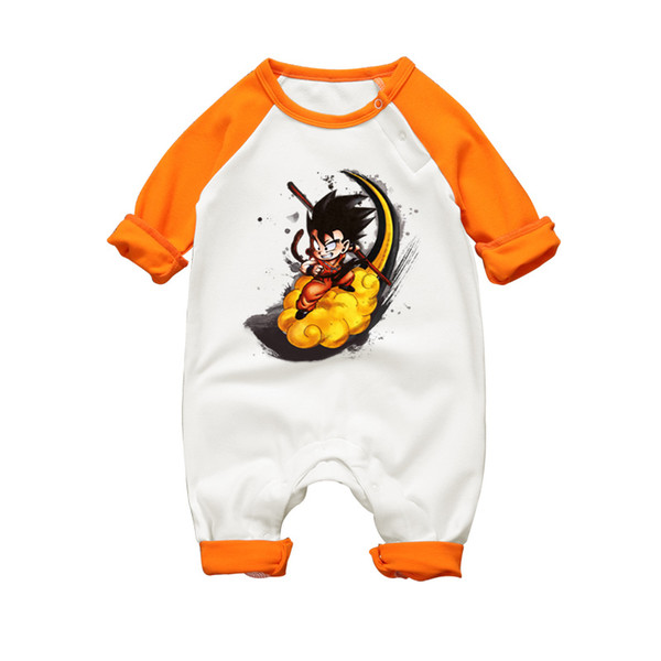 2017 Autumn Baby Boy Girl Romper High Quality Cotton Jumpsuits Dragon Ball Son Goku Toddler Pajamas Long Sleeve Infant Clothes J190524