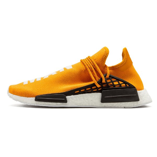 Human Race Trail Мужская обувь Pharrell Williams Образец Yellow Core Черные кроссовки PW HU Runner Спортивная дизайнерская обувь Женские кроссовки 36-47