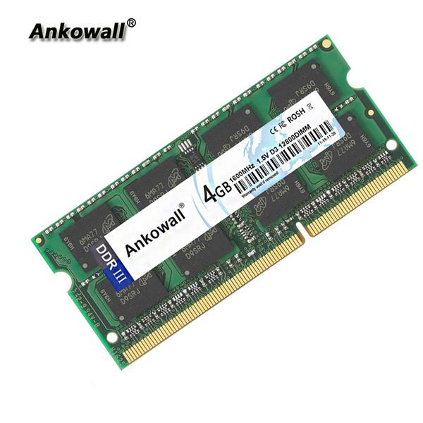 Ankowall DDR3 SO-DIMM 2G 4GB 8GB di RAM 1333/1600 MHz PC3-10600 1.5V 204Pin Notebook Memoria / 12800 Laptop RAM