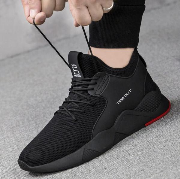 2019 Bahar yeni erkek moda ayakkabılar moda Kore versiyonu nefes rahat ayakkabılar eski Pekin ayakkabı