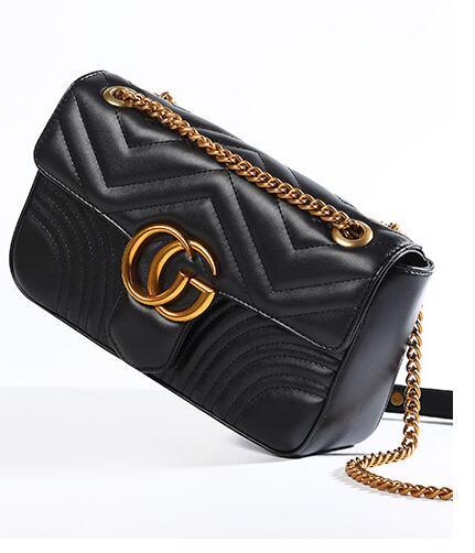 Luxus Hochwertige Mode Liebe herz V Welle Muster Satchel Designer Umhängetasche Kette Handtasche Crossbody Geldbörse Dame Einkaufstasche taschen